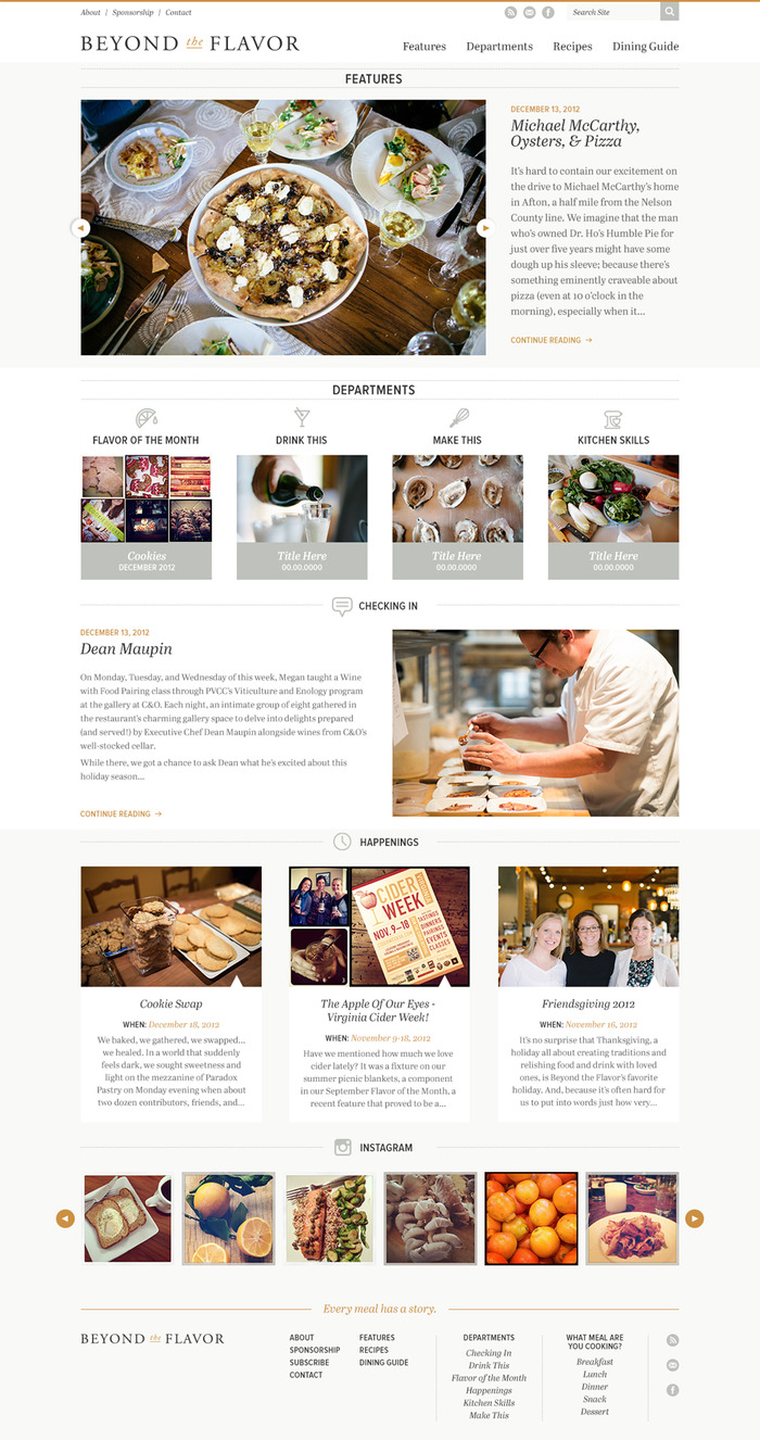 The new Beyond the Flavor website design!
