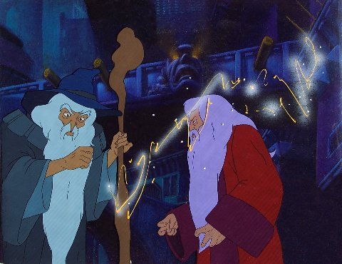 """Gandalf and Saruman from """"Lord of the Rings."""""""