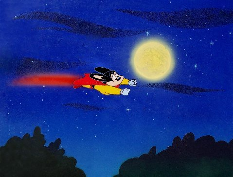 """Mighty Mouse from """"The New Adventures of Mighty Mouse."""""""