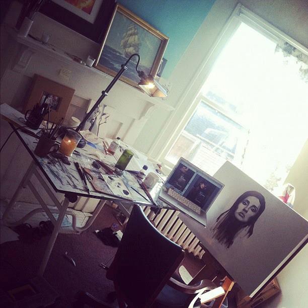Cassie Phillips' studio in Columbus, Ohio.