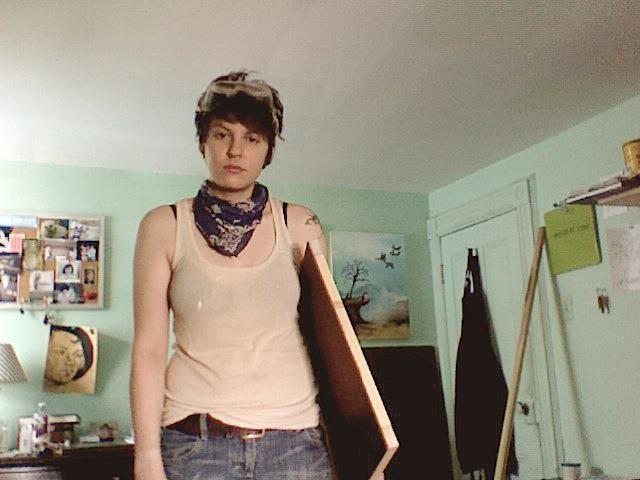 Lauren Purje in her studio in New York.
