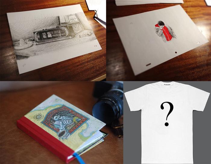An original BackGround + An original animation frame + a deadman's reach book + one of the 3 T-shirts + Film Download