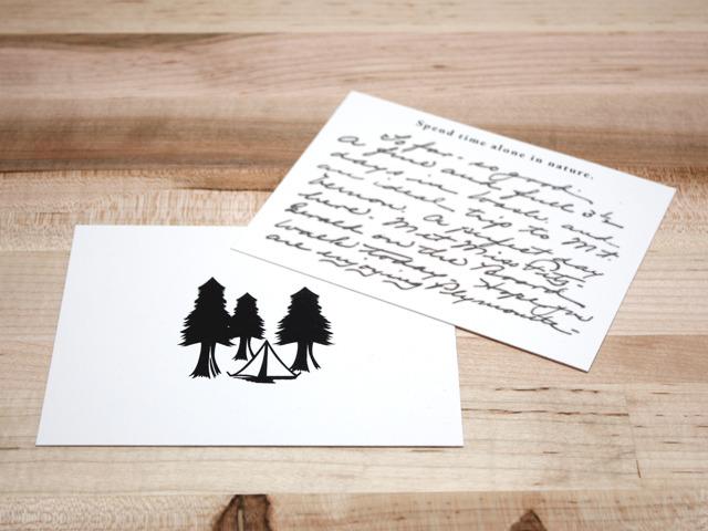 Prototype of correspondence cards