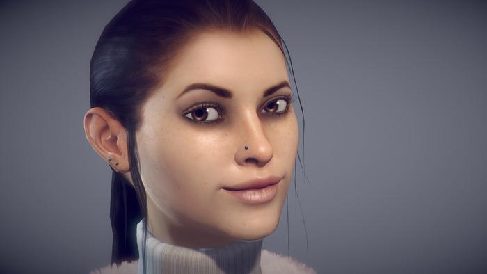 Zoë (actual in-game model)