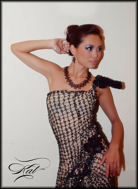 """Look elegant......Balck Long Necklace 39"""" with small earrings"""