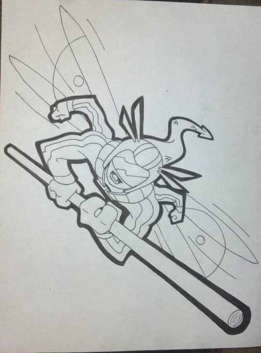 """His sidekick, """"Snapp""""™ - the ultimate dragonfly!"""