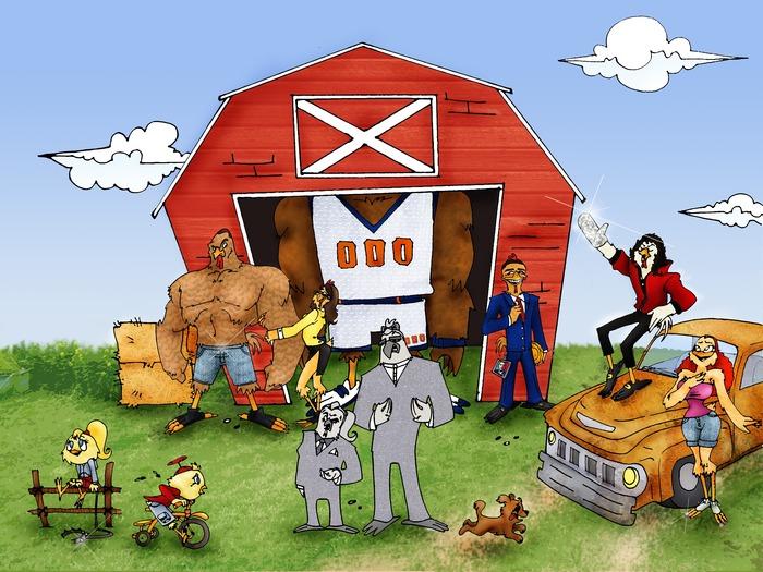 A regular ChikkinChamps™ day around the barn.