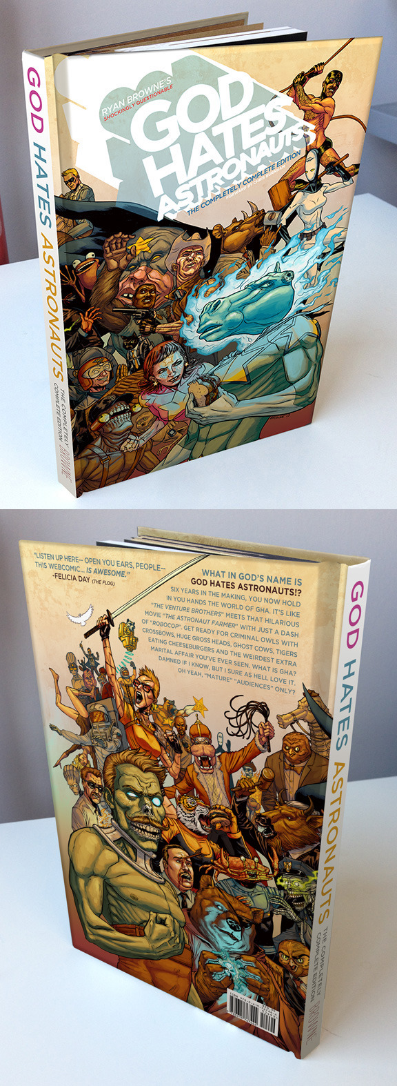 Mock-up of the printed book.