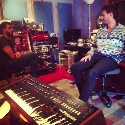 Jamie and Rob during Diamond Dogs tracking