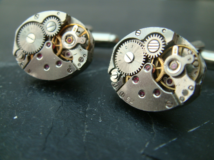 Type E Watch Movement Cufflinks 16mm x 14mm. Only 15 pairs available!