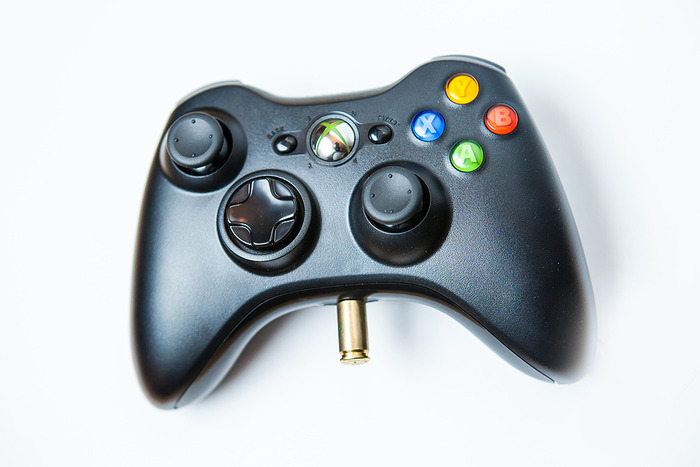 Plugged into the Xbox 360 Controller