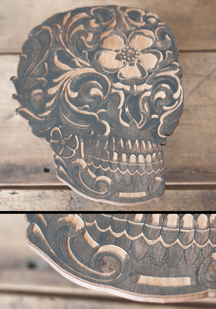 """9""""x11"""" Hand Painted 1/4"""" Laser Etched wood From EtchPop"""