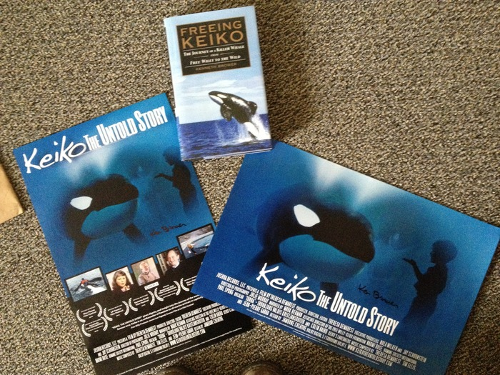 Posters Signed by Ken Brower author of book Freeing Keiko