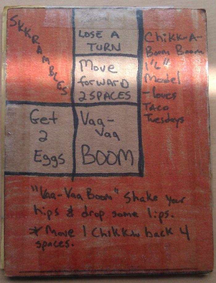 "Chikk-A-Boom Boom™ ""board piece"" of a Skkrambled™ trading card"