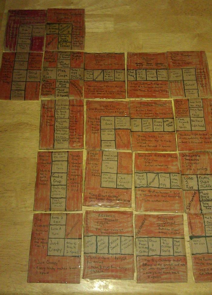 Skkrambled™ trading cards in a huge gameboard.