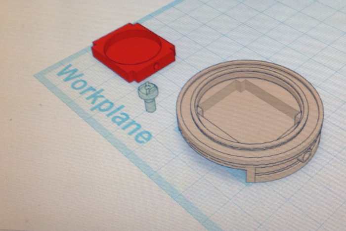 3D model on Tinkercad
