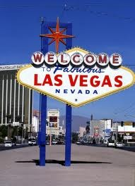The sign you'll see as you're entering Vegas to hang out with the band