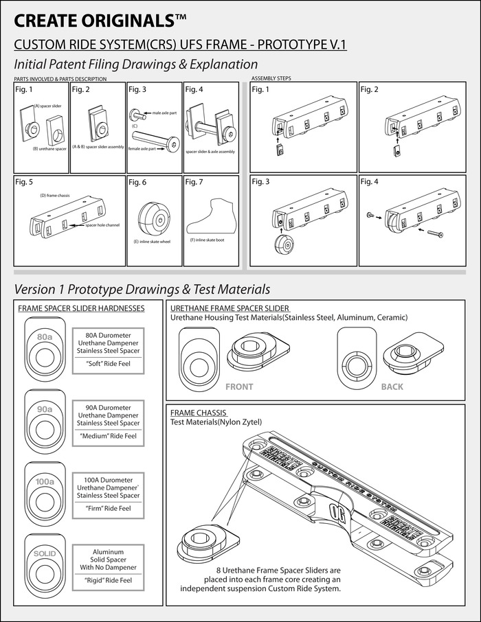 Initial Patent Filing Drawings & First Prototype Sample Design