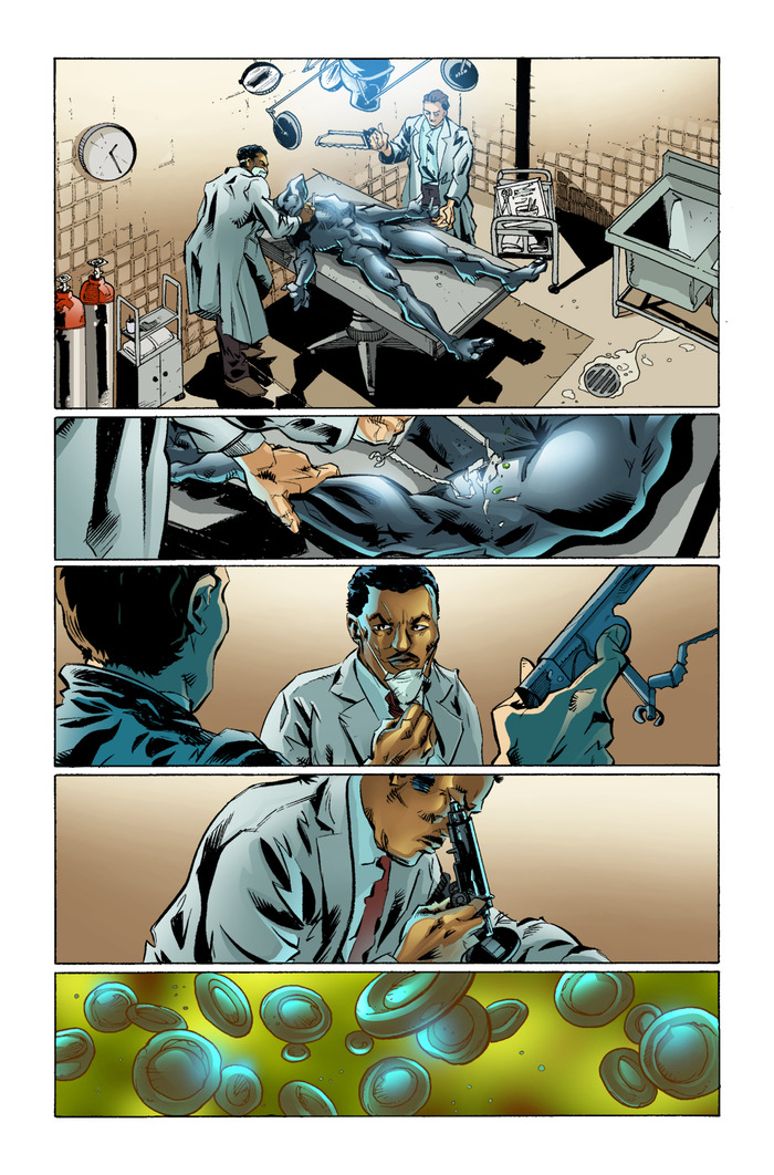 Page 5, pencils by Mike Fiorentino, Ink by Steve Wands, colors by Gabriel Cassata