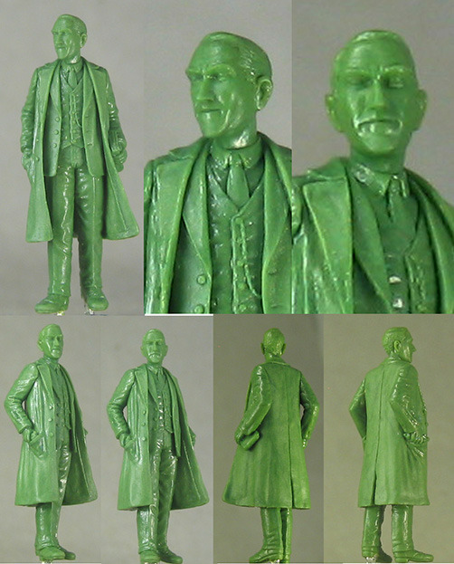 H.P. Lovecraft, sculpted by Tom Meier