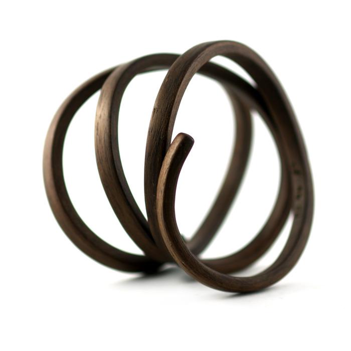 Organic Coil Bracelet Walnut