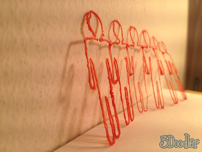 Six little men and the other one said... 3Doodler! 3Doodler!