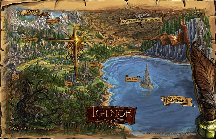 The map of the Land of Iginor.