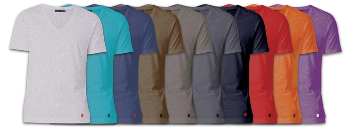 The BLACK Reward: All of our Men's & Ladies Solid Tees are Athletic Fit.  Choose from V-Neck or Crew Neck, sizes S-2XL.  Available in the following Heather colors: White, Turquois, Navy, Brown, Ash, Charcoal, Black, Red, Orange, and Purple.