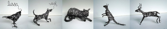 Wire Art by Nakisha (wireanimals.etsy.com)