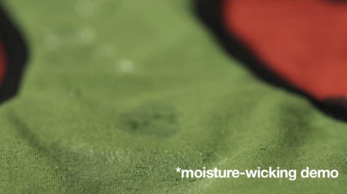 THINX wicks moisture to keep you fresh and dry