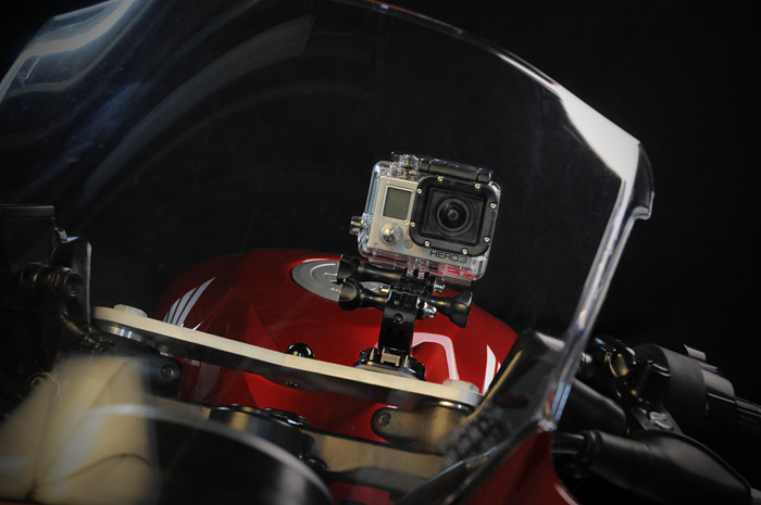 Mount your GoPro safely and securely for dynamic through the shield video