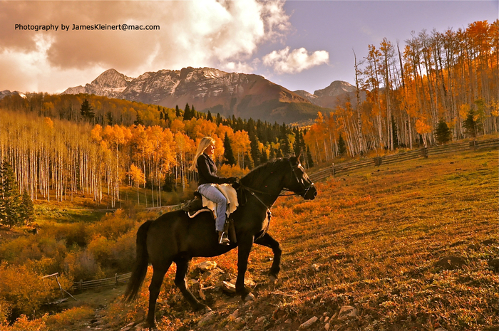Connecting with Mother Earth and Horses in Telluride, come ride with us!