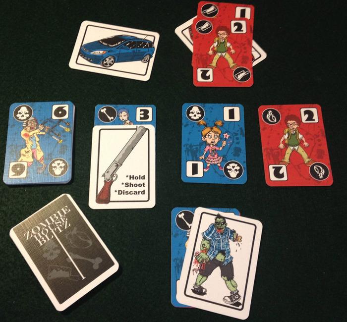 Zombie House Blitz prototype cards