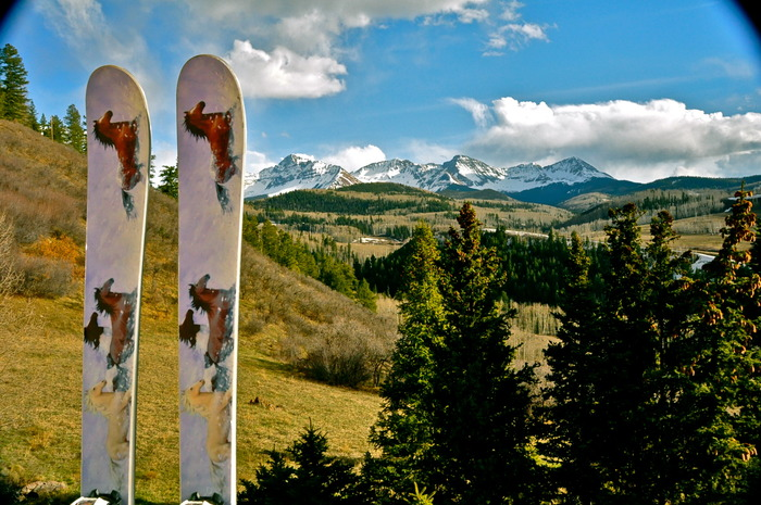 Limited Edition Wild Horse Ski, hand made in Telluride CO.