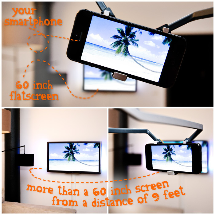 Your smartphone becomes a 60 inch flatscreen