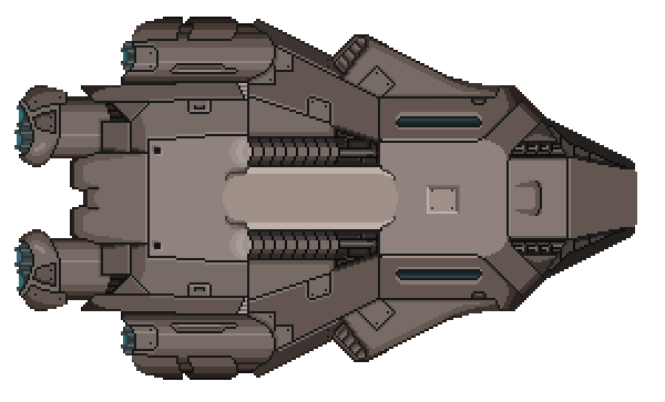 One of several ships the player can choose from at the start of the game