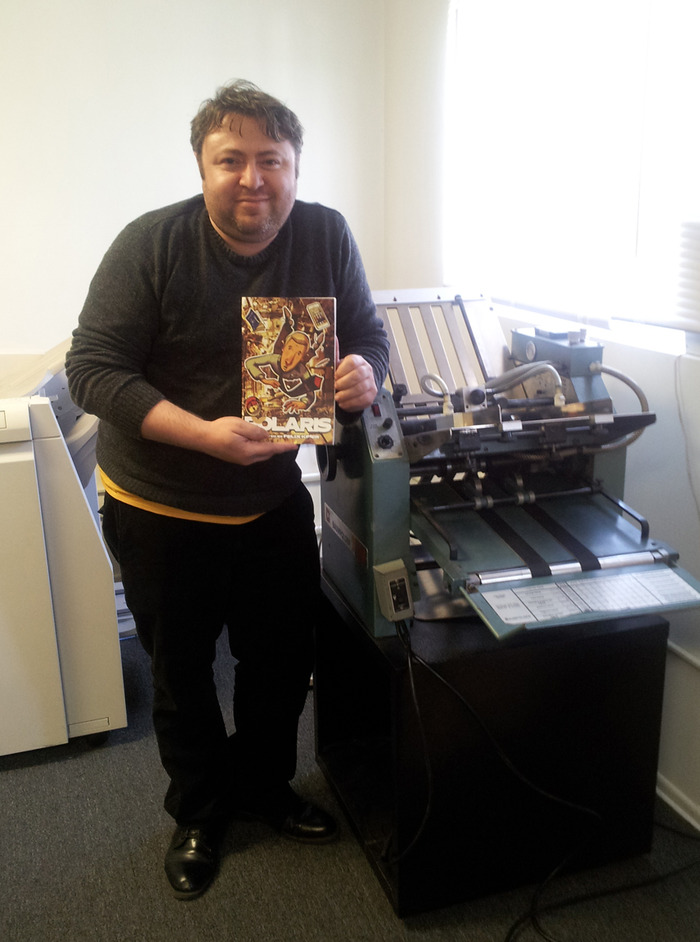 Me, running the test print.