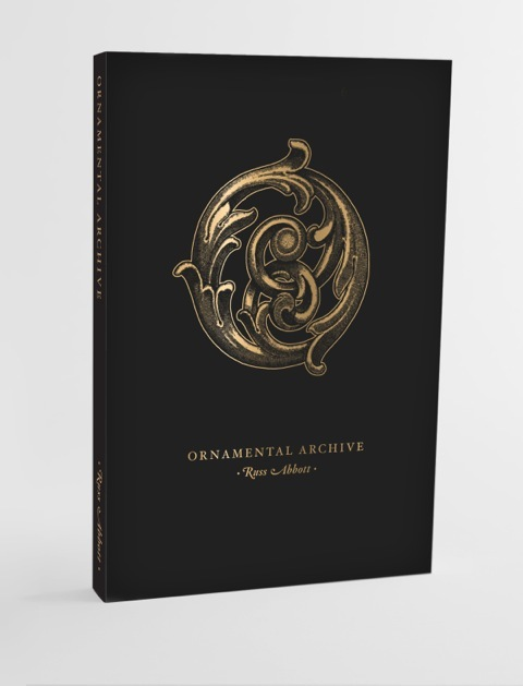 """""""Ornamental Archive"""" mock up book cover"""