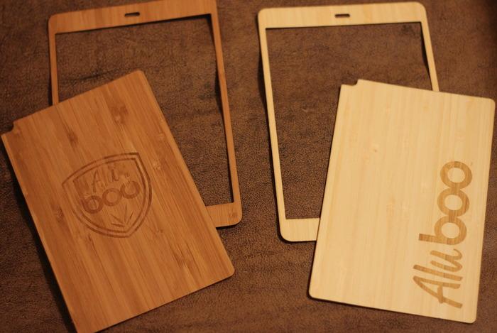Bamboo iPad skins