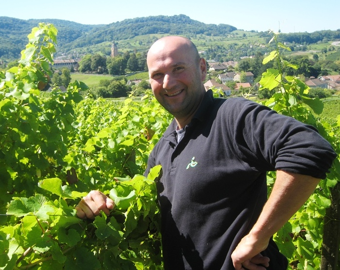 Stéphane Tissot in his vineyard above Arbois ©Wink Lorch