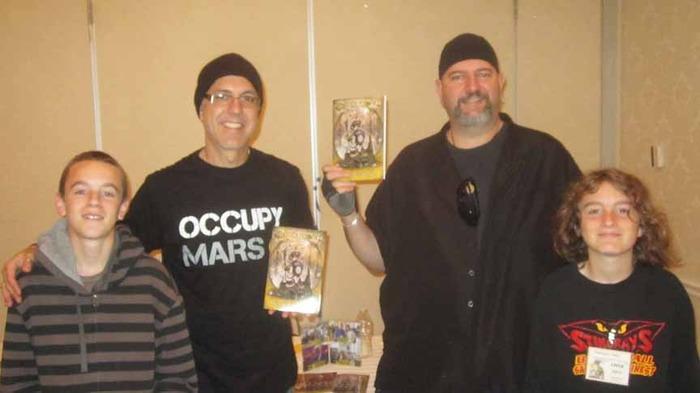 Josh & Harrison with The Unincorporated Man authors Dani & Eytan Kollin