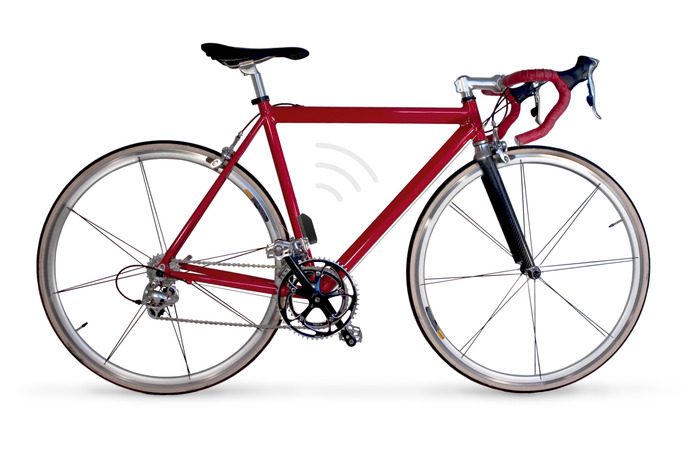 The BikeSpike on a bicycle without the cage