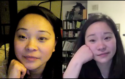 A screen shot from Samantha & Anaïs' first skype session.