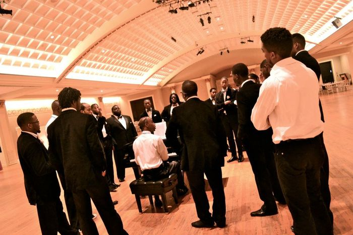 The male section of the Aeolians 10 mins before the spiritual category of the World Choir Games