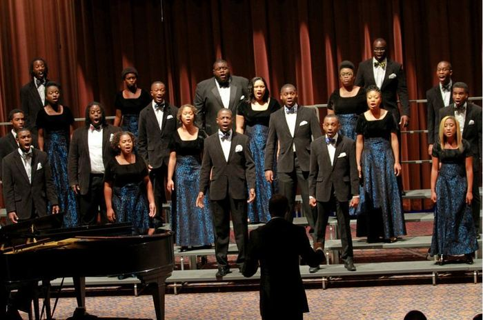 The Aeolians during the World Choir Games competing in the Music of the Religions category.