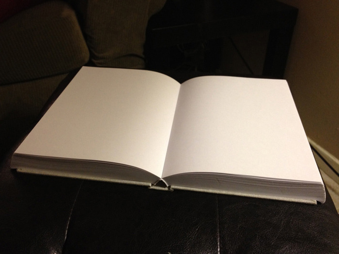 The open book (no pictures yet)