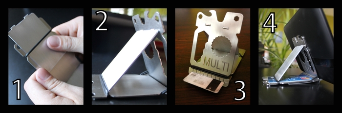 Transforms from wallet to smart phone/ tablet stand