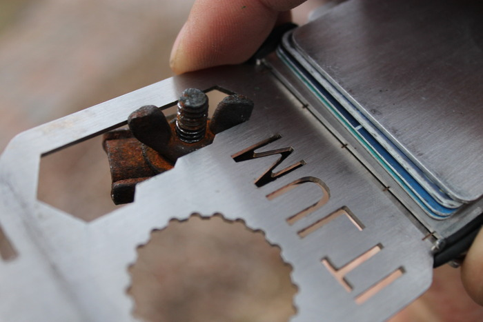 How the nested wrench is used as a wing-nut wrench!