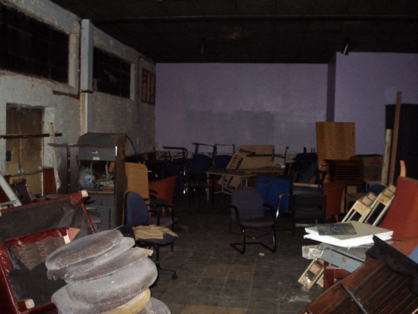 Before work on the Small Cinema started.
