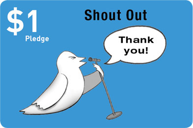 THANK YOU: Share your contribution via Twitter and we'll give you a digital high-five. We'll also send you an email, thanking you, from the bottom of our team's heart.